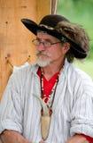 1700 wieder--enactor im Kostüm Lizenzfreie Stockfotografie