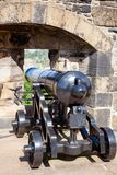 Wieder hergestellte Mündungladenkanone an Edinburgh-Schloss Schottland Großbritannien Stockbild
