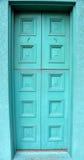 Wieder hergestellter Front Door Painted Aqua Color Lizenzfreie Stockbilder