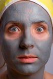 Wiederanlauf und Gesichtsbehandlung der Frau Lizenzfreie Stockfotografie