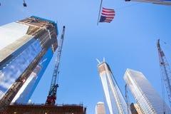 Wiederaufbau des Bodennullpunkts NYC Stockbilder