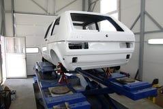 Wiederaufbau eines Autos Lizenzfreies Stockfoto