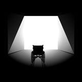Wiederaufnahmeminimalistkonzept der körperlichen Krankheit oder der Geisteskrankheit Stockbild