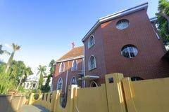 Wiederbelebungskirche, luftgetrockneter Ziegelstein rgb Stockfotos