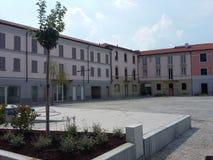 Wiedereröffnung Busto Arsizio-Italien des Quadrats Vittorio Emanueles II zum Verkehr lizenzfreie stockbilder
