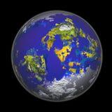 Wiedergabe 3D der Erde Stockfoto