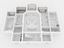 Wiedergabe 3D des Hauptinnenraums Stockbild