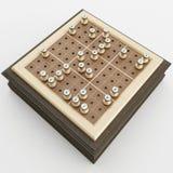 Wiedergabe 3d eines Sudoku Vorstands Stockbild