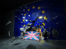 Wiedergabe Brexit-Konzeptes 3d Stockbild