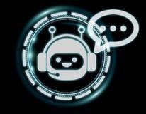 Wiedergabe Chatbot-Illustration 3D Stockbilder