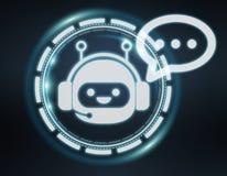 Wiedergabe Chatbot-Illustration 3D Stockfotos