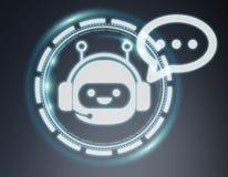 Wiedergabe Chatbot-Illustration 3D Stockbild