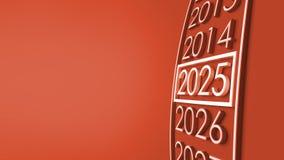 Wiedergabe 2025 3d Lizenzfreies Stockfoto