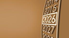 Wiedergabe 2026 3d Lizenzfreies Stockfoto