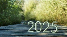 Wiedergabe 2025 3d stockfoto