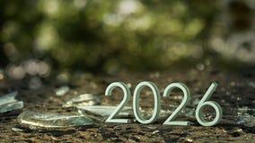 Wiedergabe 2026 3d stockfoto