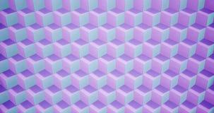 Wiedergabe 3D Animationsmuster geometrisch in der Architektur-Beschaffenheit auf Würfel-Kastenform mit Licht und Schatten vektor abbildung