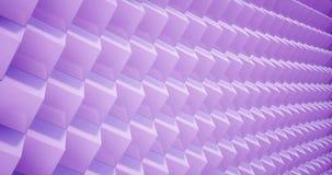 Wiedergabe 3D Animationsmuster geometrisch in der Architektur-Beschaffenheit auf Würfel-Kastenform mit Licht und Schatten stock abbildung