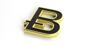 Wiedergabe 3d bitcoin auf weißem Hintergrund Stockfoto