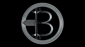 Wiedergabe 3d bitcoin netter Ikone für Symbol und andere Stockfoto