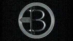 Wiedergabe 3d bitcoin netter Ikone für Symbol und andere Lizenzfreie Stockfotografie