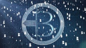 Wiedergabe 3d bitcoin netter Ikone für Symbol und andere Lizenzfreie Stockfotos
