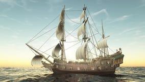 Wiedergabe 3D CG des Schiffs