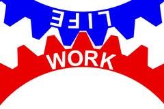 Wiedergabe 3d der Balance für Arbeit und des Lebens ausgedrückt durch das Gangineinander greifen Stock Abbildung