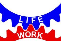 Wiedergabe 3d der Balance für Arbeit und des Lebens ausgedrückt durch das Gangineinander greifen Vektor Abbildung
