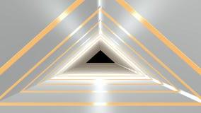 Wiedergabe 3d der Innenarchitektur des Korridors mit nettem Licht vektor abbildung