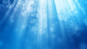 Wiedergabe 3D des abstrakten glänzenden blauen Hintergrundes Stockfotos