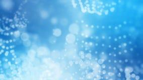 Wiedergabe 3D des abstrakten glänzenden blauen Hintergrundes Stockfotografie
