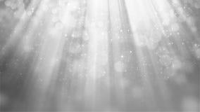Wiedergabe 3D des abstrakten glänzenden silbernen Hintergrundes Stockbilder