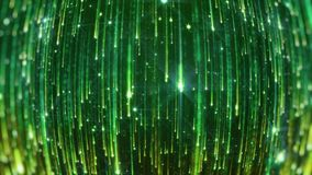 Wiedergabe 3D des Fallens der hellen Partikel Starfall auf einem dunklen Hintergrund mit den glänzenden und glühenden Sternchen Lizenzfreie Stockfotografie