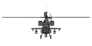 Wiedergabe 3D des futuristischen Hubschrauberangriffs Stockfotos