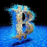 Wiedergabe 3d des goldenen bitcoin stock abbildung