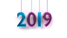 Wiedergabe 3d des Jahres 2019 Lizenzfreie Stockbilder