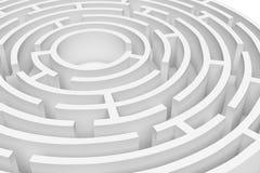 Wiedergabe 3D des weißen runden Labyrinth consruction approximiert Lizenzfreie Abbildung