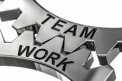 Wiedergabe 3d des Zeigens des Bildes der Teamwork Lizenzfreie Abbildung