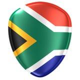 Wiedergabe 3d einer Südafrika-Flaggenikone lizenzfreie abbildung