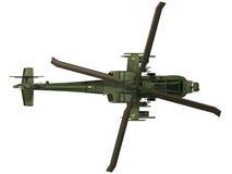 Wiedergabe 3d eines AH-64 Apache - Draufsicht Stockbilder