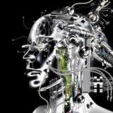 Wiedergabe 3D eines Cyborg Stockfotografie