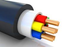 Wiedergabe 3D eines elektrischen Kabels Lizenzfreie Stockfotos