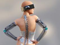 Wiedergabe 3D eines sexy weiblichen androiden Roboters Stockfoto
