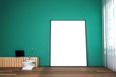 Wiedergabe 3d: Illustration des Weißspotts herauf Rahmen Geometrischer abstrakter Hintergrund für Design Spott herauf weißes Plak Lizenzfreie Stockbilder