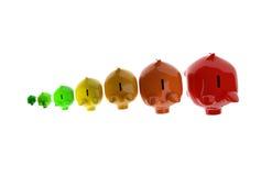 Energieklassenkonzept der Piggy Bank Stockbild
