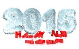 Wiedergabe 3d neuen Jahres 2015 Stockfotografie