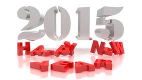 Wiedergabe 3d neuen Jahres 2015 Lizenzfreies Stockfoto