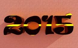 Wiedergabe 3d neuen Jahres 2015 Stockbild
