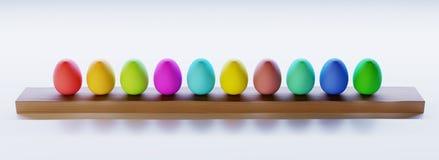 Wiedergabe 3d Ostereier gefärbt Lizenzfreies Stockbild